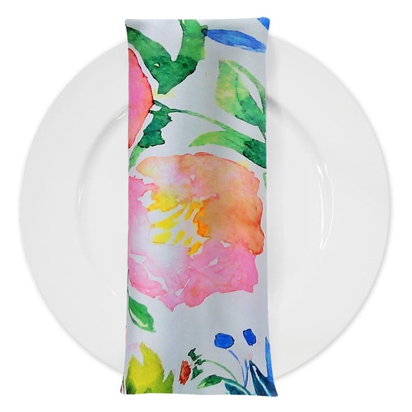 Watercolor Bouquet (Poly Print) Table Napkin