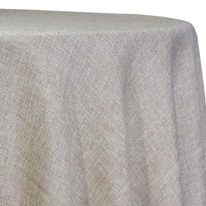 Imitation Burlap (100% Polyester) Table Linen in Wheat