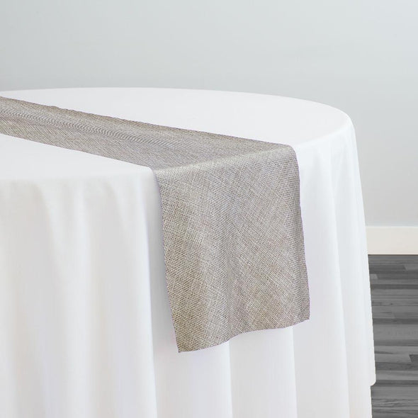 Imitation Burlap (100% Polyester) Table Runner in Wheat