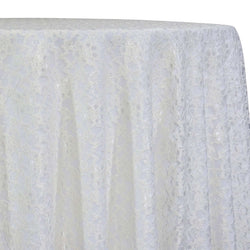 Classic Lace Table Linen in White