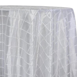 "2"" Pintuck Taffeta Table Linens in White"