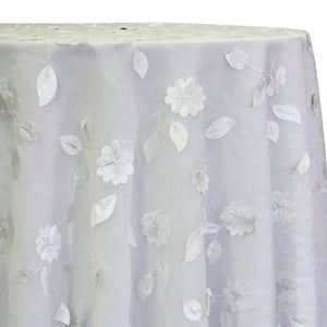 Lily Petal Table Linen in White