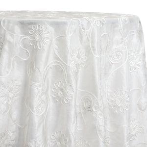 Eyelash Embroidery Table Linen in White