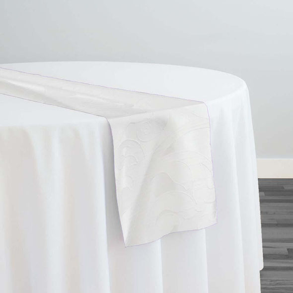 Classic Jacquard Table Runner in White
