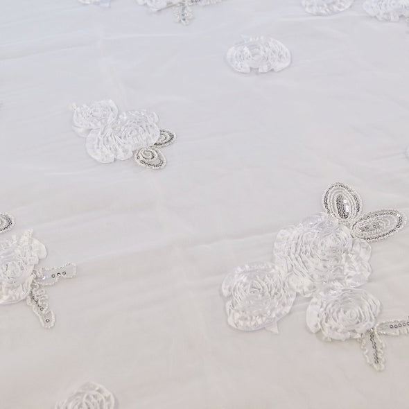 Posh Collection Table Runner in White