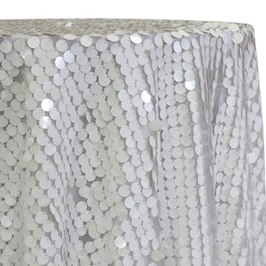 Payette Sequins Table Linen in White
