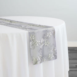 Butterfly Lace Table Runner in White