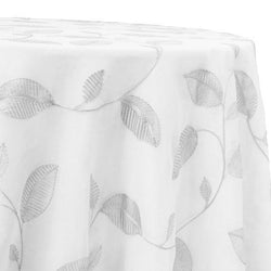 Birch Leaf Table Linen in White