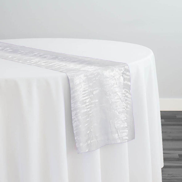 Crush Shimmer (Galaxy) Table Runner in White 16