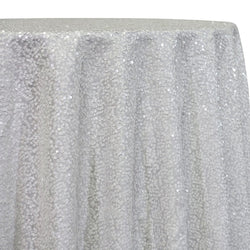 Taffeta Sequins Table Linen in White