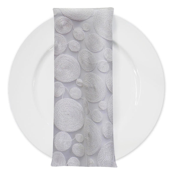 Coin (w/ Poly Lining) Table Napkin in White