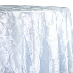 "4"" Pintuck Taffeta Table Linen in White"