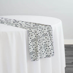 Bandana Print Table Runner in White