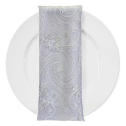 Jasmine Lace (w/ Poly Lining) Table Napkin in White