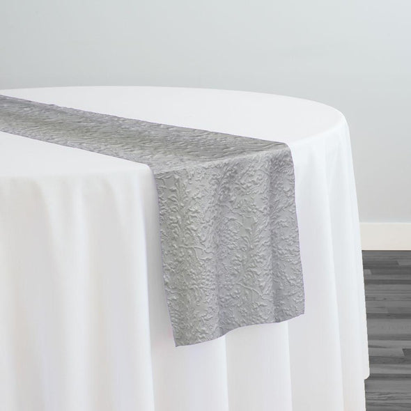 Lucia Jacquard Table Runner in White