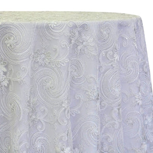 Jasmine Lace Table Linen in White