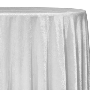 Lush Velvet Table Linen in White