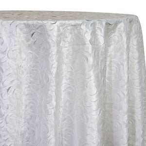 Flora Rose Table Linen in White