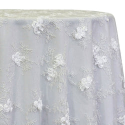 Baby Rose Embroidery Table Linen in White
