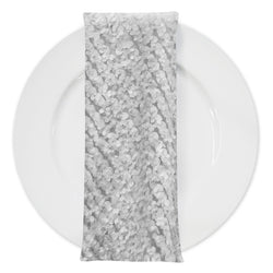 Mini Petals (w/ Poly Lining) Table Napkin in White