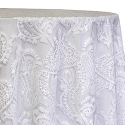 Princess Lace Table Linen in White