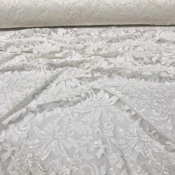 Milan Lace Table Linen in White