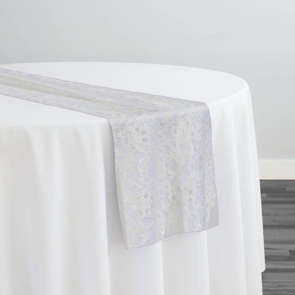 Classic Lace Table Runner in White