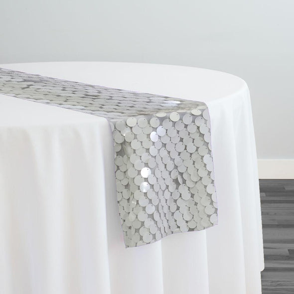 Payette Sequins Table Runner in White