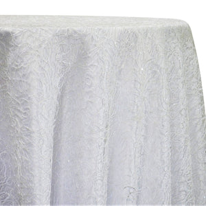Bedazzle Table Linen in White