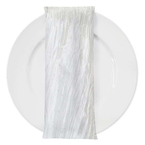 Accordion Taffeta Table Napkin in White