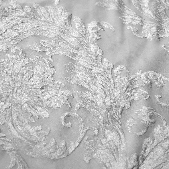 Victorian Jacquard Sheer Wholesale Fabric in White