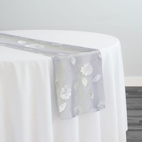Lily Petal Table Runner in White