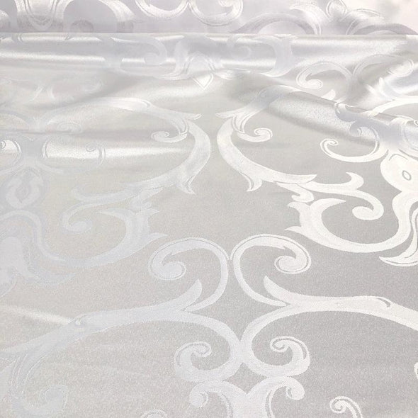 Chopin Jacquard Table Runner in White