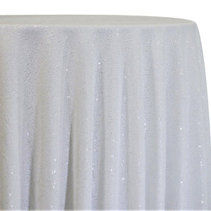 Glitz Sequins Table Linen in White