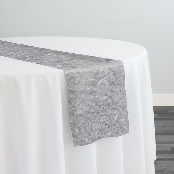 Lush Chiffon Table Runner in White