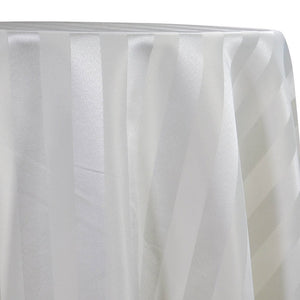 Imperial Stripe Table Linen in White