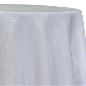 Imitation Burlap (100% Polyester) Table Linen in White