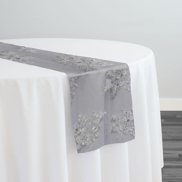 Venetian Lace Table Runner in White