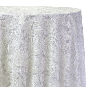 English Lace Table Linen in White