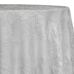 Floral Reef Jacquard Table Linen in White