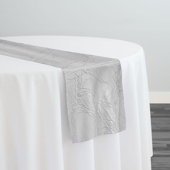 Floral Reef Jacquard Table Runner in White