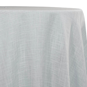 Poly Slub Table Linen in White