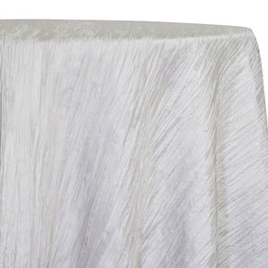 Accordion Taffeta Table Linen in White