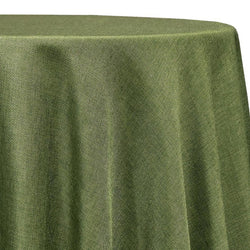 Imitation Burlap (100% Polyester) Table Linen in Willow Green