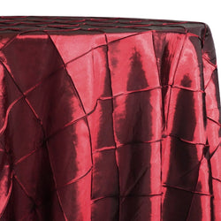 "4"" Pintuck Taffeta Table Linen in Wine 001"