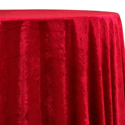 Lush Velvet Table Linen in Wine