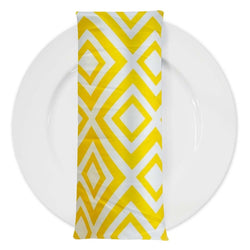 Paragon Print Lamour Table Napkin in Yellow