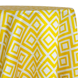 Paragon Print (Lamour) Table Linen in Yellow