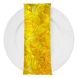 Peony Bouquet (w/ Poly Lining) Table Napkin in Yellow