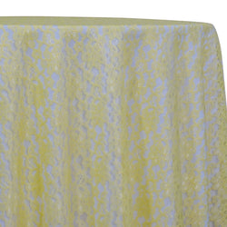 Classic Lace Table Linen in Yellow 7736